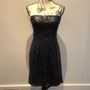 BCBG black sequin dress!